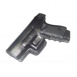 Coldre de Couro Velado Pistola Glock G25, G19 e G23.