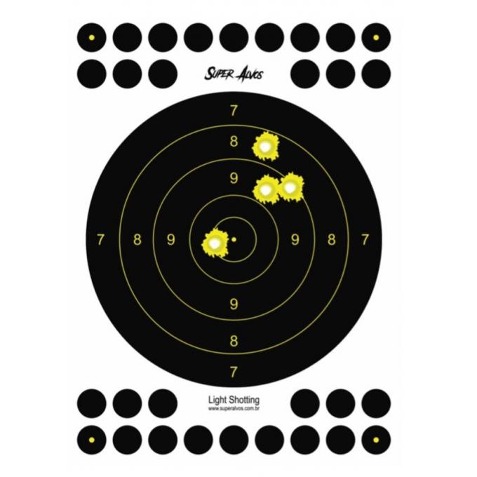 Alvo Grande Reativo - Super Alvos - 10 Unidades