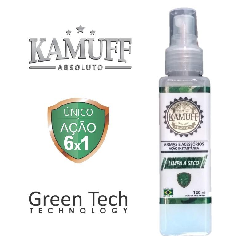 Limpeza a Seco Kamuff 120ml - Ação Instantânea - Green Tech