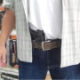 Coldre de Couro Velado Pistola Glock G17