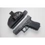 Coldre de Kydex Velado Pistola Pistola Glock G19, G23 e G25 - Preto