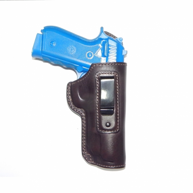 Coldre de Couro Velado Pistola Taurus 100, PT92 e PT 57