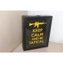 Quadro Decorativo Porta Cápsulas - KEEP CALM AND BE TATICAL