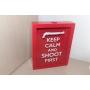 Quadro Decorativo Porta Cápsulas - KEEP CALM AND SHOOT FIRST